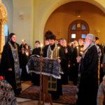 Великое повечерие с чтением Великого покаянного канона преподобного Андрея Критского в Троицком храме